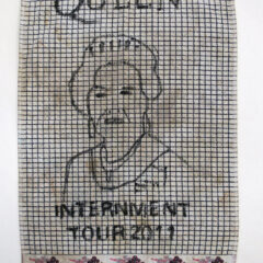 Internment Tours Tea Towel: Lovely Landed Lady // Permanent Marker, Tea Towel // 40 x 70 cm // 2014