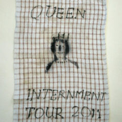 Internment Tours Tea Towel: I ♥ IRL Horses // Permanent Marker, Tea Towel // 40 x 60 cm // 2014