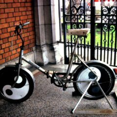 Mental Exercise // Bicycle, Steel, Wheel Disc's, Enamel Paint // 110 x 160 x 50 cm // 1996
