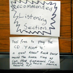 Feeding the Well Feed // A4 Sheets of Paper, Permanent Marker, Transparent Tape, CD Player, Faust 4 // 2003