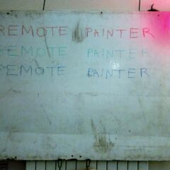 Remote Painters Marker Board // Marker Board & Marker // 150 x 110cm // 2015