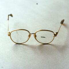 Subliminal Art Machine for the Short Sighted // Glasses, Electroset // 15 x 5 x 15 cm // 1996