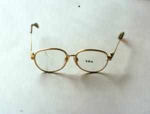 Subliminal Art Machine for the Short Sighted // Glasses, Electroset // 15 x 5 x 15 cm // 1996