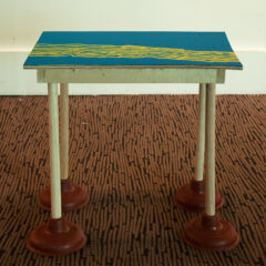 Swedish Sewage Table // Wood, Plumber Plunger, Screws, Acrylic Paint // 60 x 70 x 45 cm // 2006