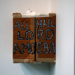 The Atheists Tabernacle // Cardboard, Glue, Led Nightlight, Permanent Marker, Glitter // 35 x 50 x 30 cm // 2006