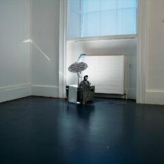 Portrait of Brendan Behan as a Murielist // Digital Print on Foam Card, Wire, Tape, overhead Projector // 60 x 40 x 50 cm // 2005