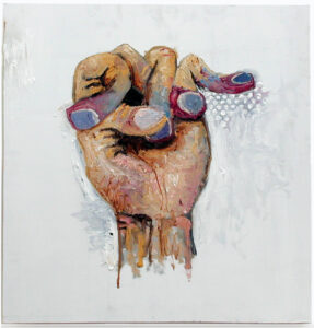 Fingers Crossed for a Better Tomorrow // Oil on Board // 60 x 60 cm // 2005