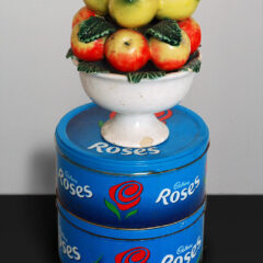 Cézanne gets a piggy back off of Renoir // Ornamental Ceramic, Tin Roses Boxes // 50 x 30 cm // 2005