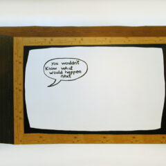 CH.66: Scene from an Antonioni Film // Wood, Vinyl, Permanent Marker // Variable Dimensions // 2004