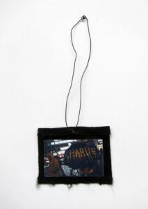 A Rainy Day in How-So (Meditated Media Medals) // Laminated Digital Print, Felt, Eyelet, Glue, Wire // 8 x 12 cm // 2016