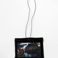 A Rainy Day in How-So (Meditated Media Medals) // Laminated Digital Print, Felt, Eyelet, Glue, Wire // 8 x 12 cm // 2016