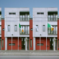 Flakey Flags // Assortment of Flags flown at 3/4 mast outside Carlow County Council Offices // 2006