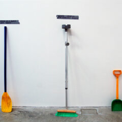 Social Crutches for Civic Survival // Crutch, Brush, Paddle, Beach Shovel, Tape // 150 x 110 x 10 cm// 2006