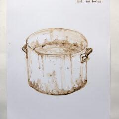Cultural Melting Pot // Acrylic on Card// 100 x 65 cm // 2013