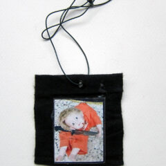 Rita Katz Kids (Meditated Media Medals) // Laminated Digital Print, Felt, Eyelet, Glue, Wire // 8 x 8 cm // 2016