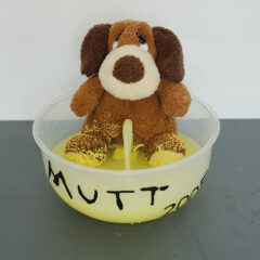 NOW That's What I Call Art –The Marcel Duchamp Memorial Fountain // Plastic Basin, Piping, Soft Toy, Pump, Vinyl, Water, Paint // 35 x 40 x 40 cm // 2005