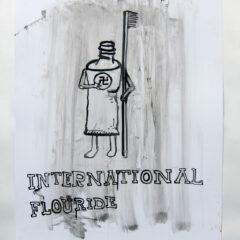 Flash Flood of Fluoride // Acrylic on Card// 100 x 65 cm // 2013