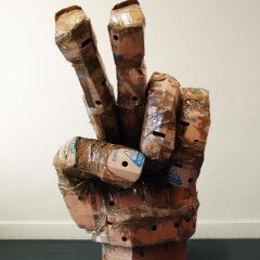 Peace Fucker // Banana Boxes, Packaging Tape // 230 / 150 x 100 cm // 2005