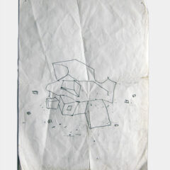 Frank Gehry's Initial Design Sketch for Deutsche West Bank Sculpture Park // Working Drawing // Ink on A4 Paper // 2013