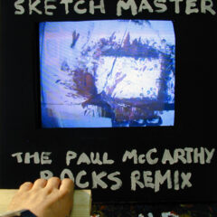 Hands Richter Sketch Master: Paul McCarthy Rock's Remix // 5 Day (30hr) Durational Performance //Wood, Cord, Screws, Pulleys, Elasticated Band, Leather, Paint, Paper, CCD Camera, Hair Dryer, TV Monitor // 60 x 220 x 90 cm // 2003
