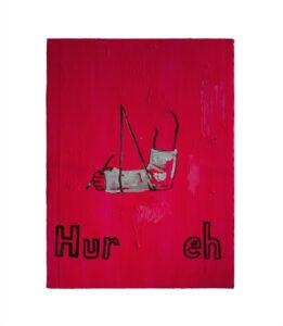 The Hastey Painter // Acrylic on Corrugated Polyurethane // 50 x 70 cm // 2009