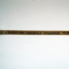 Portrait of Thomas Hirschhorn // Packaging Tape, Permanent Marker // 350 x 12 x 12 cm // 2005