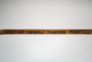 Portrait of Thomas Hirschhorn // Packaging Tape, Permanent Marker // 350 x 12 x 12 cm // 2005