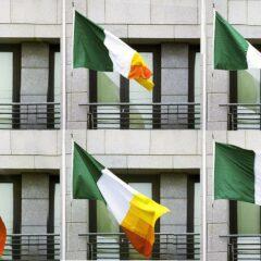 Green, White & Colour-Blind // Printed Polyester Flag // 100 x 160 cm // 2006