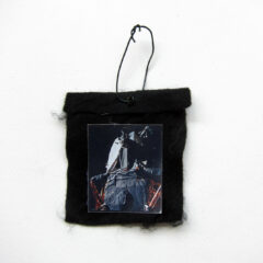 The Ark of the Moon (Meditated Media Medals) // Laminated Digital Print, Felt, Eyelet, Glue, Wire // 8 x 6 cm // 2016