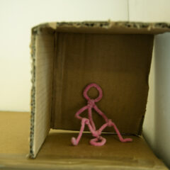 The Double Headed Helix // Pipe Cleaners, Cardboard // 12 x 2x 10 cm // 2007