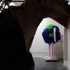 The Posterior of Mount Prosperity // Wood, Cardboard, Screws, Glue, Staples, Tape // 600 x 700 x 500 cm // 2011