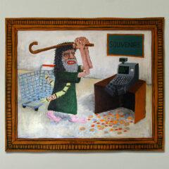 Patricians Run Riot in Idol Shop // Acrylic on Board // 100 x 120 cm // 2004